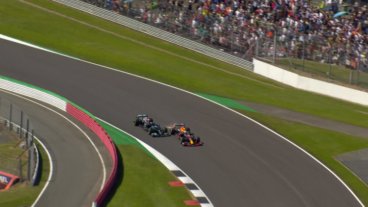 F1 was at Silverstone for two races this past weekend. In the second, Lewis Hamilton was penalized for an incident that ended Max Verstappen's race, but Lewis still went on to win. CREDIT: Formula One.